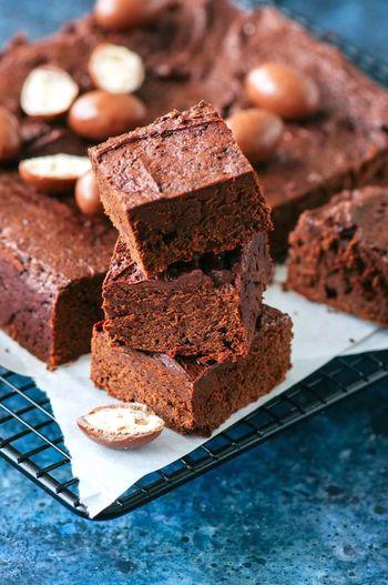 brownie SLICE Close-up Sweet Food Food And Drink Slice Of Cake Cake Chocolate Cake Dessert Easter Cake Brownie Chocolate