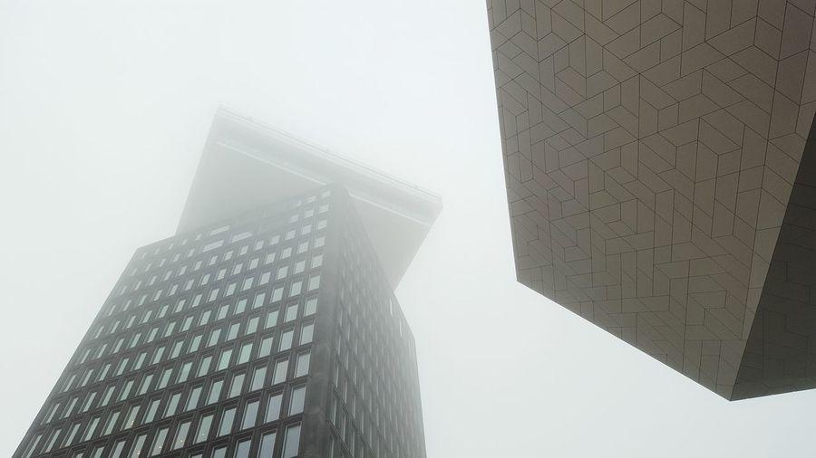 Skyscraper Architecture Fog Outdoors Built Structure Foggy Weather EyeEm Best Shots Eye4photography  Adam Toren Amsterdam Eyefilmmuseum Architecture