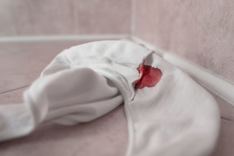 Absorbent Background Bathroom Beauty Bed Black Blood Care Closeup Color Conceptual Conversion Cotton Cycle Daily Dirty Emergency Female Feminine  Femininity Floor Girl Gynecology Health Hygiene Indoor Indoors  Menarche Menses Menstrual Menstruation Monthly Object Pains People Period Pink Protection Red Spot Stained White Woman Women Young