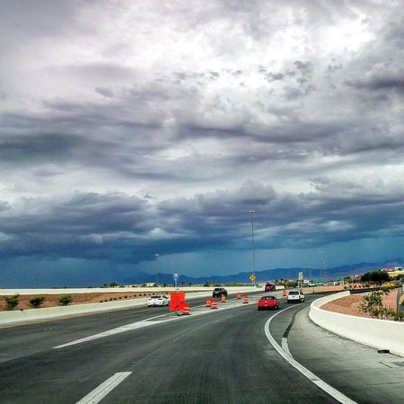 Road Transportation Cloud - Sky Highway Car Street Outdoors Sky Day Storm Cloud City Vegas  Vacation Spot Las Vegas Travel Concrete Jungle OH NO!