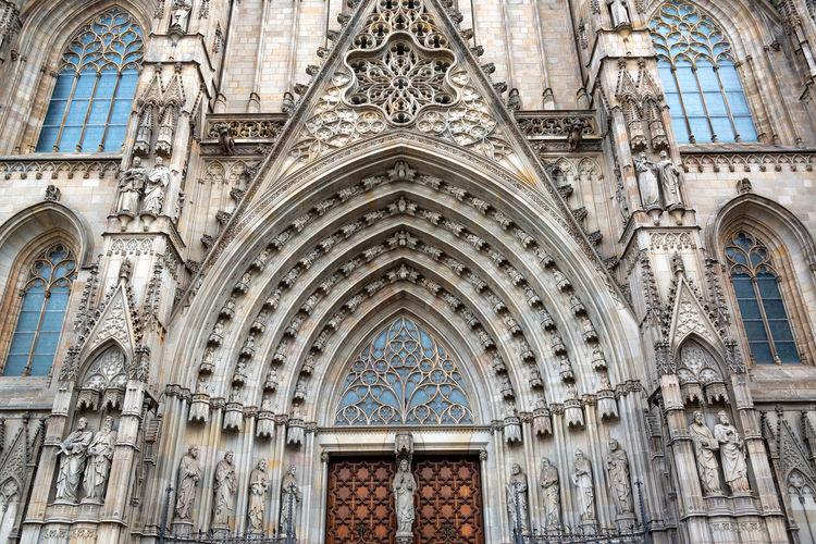 Full frame shot of church entrance