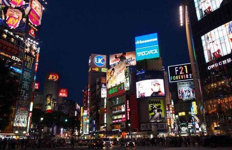 Shibuya at night Japan Photography Japanese Culture Band Shibuya Shibuya Crossing Shibuya Japan Shibuya,Tokyo Tokyo Illuminated Japonesefood Lights And Shadows Neon Life Neon Light Outdoors Shibuya109 Shibuyacrossing
