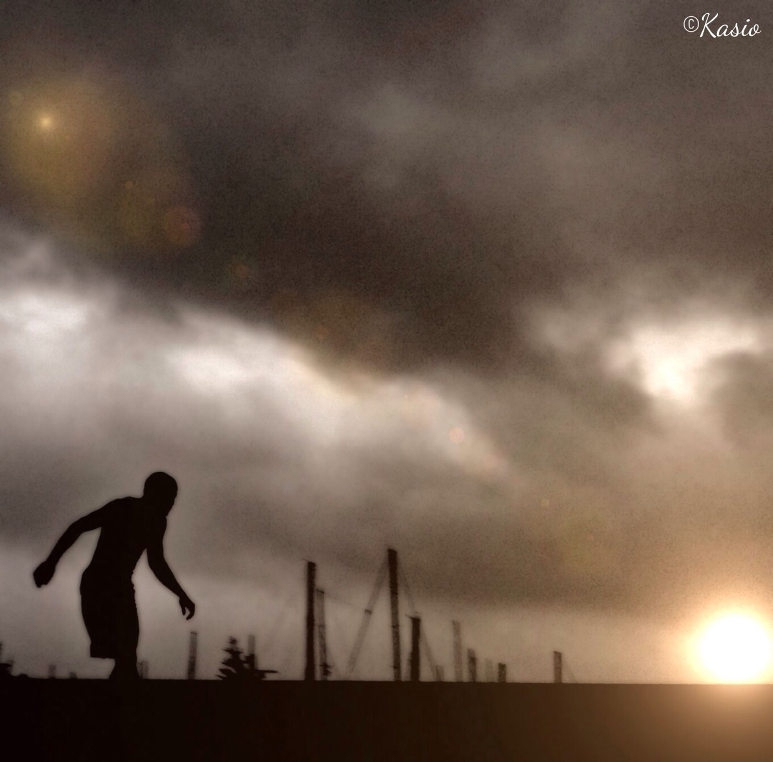 silhouette, sky, low angle view, cloud - sky, bird, cloudy, animal themes, flying, sunset, animals in the wild, one person, wildlife, dusk, cloud, one animal, weather, overcast, nature, mid-air, outdoors