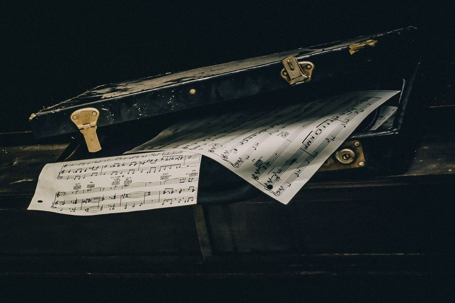 Piano Abandoned No People Indoors  Still Life Close-up Paper Communication Hanging Emotion Old Creativity
