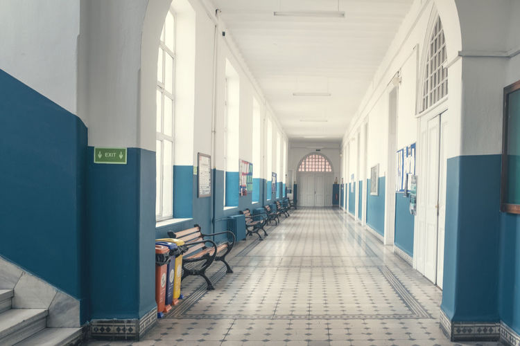Architecture Direction The Way Forward Building Built Structure Arcade Corridor Indoors  Diminishing Perspective No People Empty In A Row Day Flooring Absence Entrance Architectural Column Footpath Door Ceiling