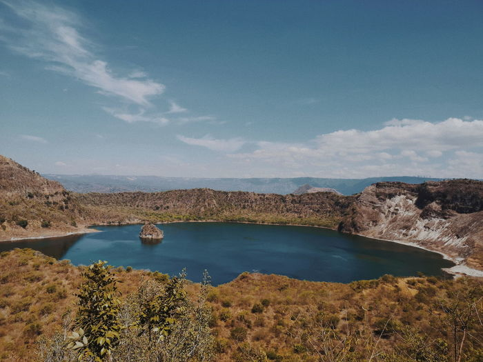 Lake View Lake EyeEm Best Shots Travel Adventure Wander Vscophilippines EyeEm Selects EyeEm Nature Lover EyeemPhilippines Volcano Hiker Conquer Taal Volcano Taal Batangas Crater Lake Crater Water Sky Landscape Rocky Mountains Mountain Range Calm Tranquil Scene Mountain Peak