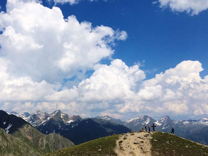 Alps Alpen Mountains Mountains And Sky On Top Of A Mountain Summertime The Great Outdoors With Adobe