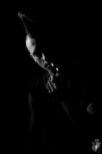 Anthony, 13. Smoking - Activity Black Background One Man Only Only Men Black & White Studio Shot StudioSession