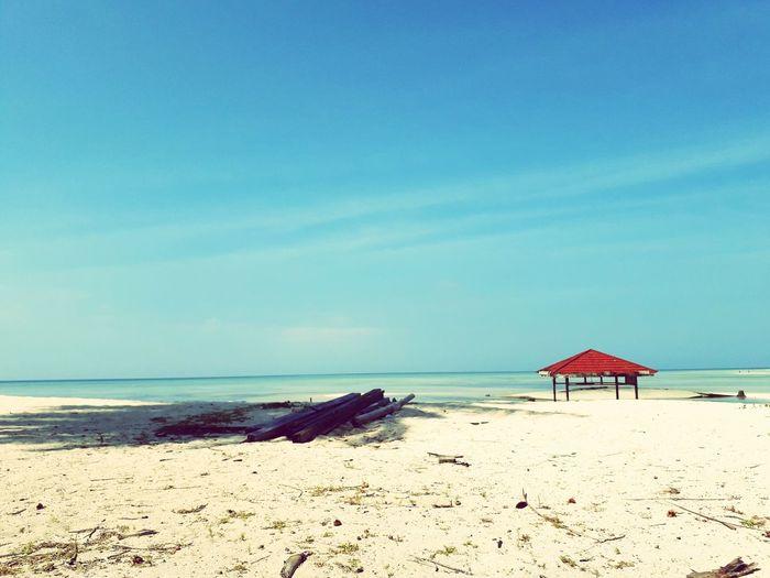 Derawan Island Beach Beachphotography Derawan Island Derawan INDONESIA Indonesia_photography Island Sea Sand Summer Clear Sky Horizon Over Water Beach Umbrella Surf Sun Lounger Thatched Roof Seascape Sunshade Lounge Chair Shore