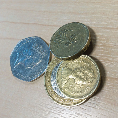 Coin Coins Money Tender Pound Uk Pound Currency Loose Change Change Sterling