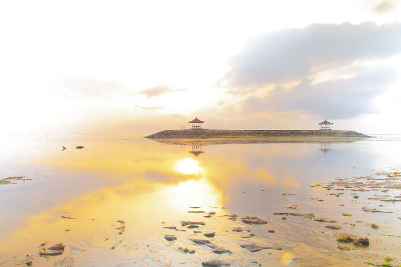 Sunrise At Karang Beach, Sanur, Denpasar Bali Bali, Indonesia Morning Morning Light Sanur Bali Indonesia Sunrise N Sunsets Worldwide  Beach Beauty In Nature Golden Hour Horizon Over Water Long Exposure Nature Outdoors Reflection Sea Sky Sunrise And Clouds Sunrise_sunsets_aroundworld Water EyeEmNewHere