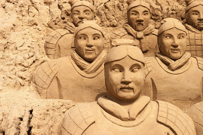 Art Art And Craft Chinese Warrior Cultures Sand Sculptures Soldiers Statue
