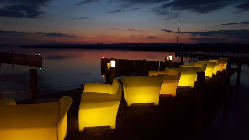 Sunset Night Water Outdoors Sunset