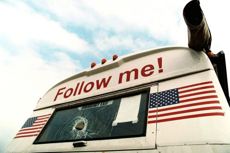 The Following Followme Stoning USA Bus 35mm Analogue Photography Film Photography Transport Film Is Not Dead