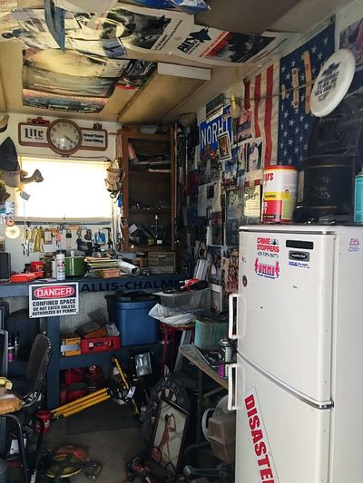 Lieblingsteil The Other Half Dads Shop Papas Shop Dads Shop One Man Cave One Original Man Cave Variation Large Group Of Objects Workshop Old Sign Sign Door Text Communication Antique Stuff Vintage Stuff Old Stuff Stuff Collector Collection First Man Cave
