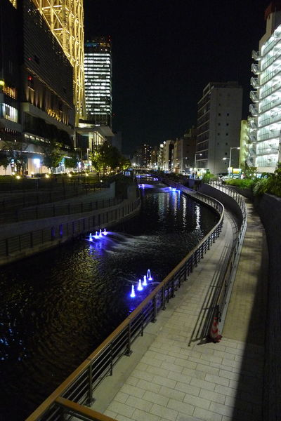Tokyo at night Architecture Building Building Exterior Canal Capital Cities  City City Life Cityscape Diminishing Perspective Illuminated Modern Night No People Outdoors Reflection River Sky Skyscraper Tall - High Travel Destinations Water