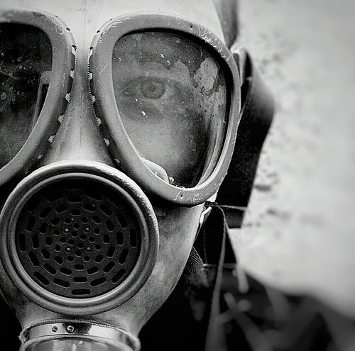 Pripyat Stalker In Job Gasmask Selfie Portrait Selfie ✌ Godmorning 😚 Black & White Black And White Blackandwhite