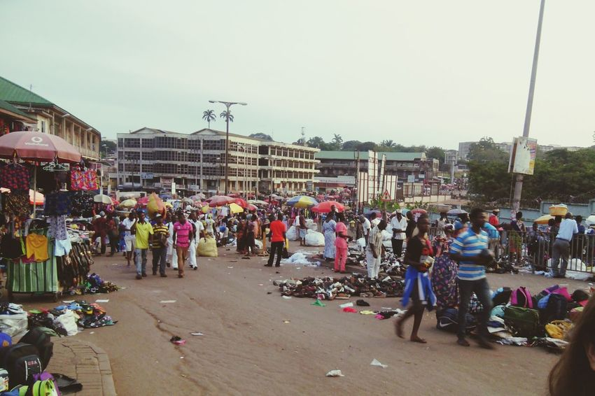 Collected Community Ghana Central Market Urban Street Market Messy Life Colorfull