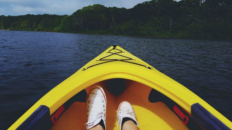 Traveling by Kayak seems like the best way Travel Summer Time  Cape Cod Water Clearwater Blue Sky Whiteconverse Adventure