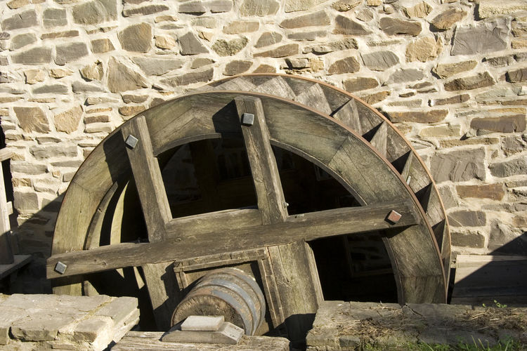 ancient mill wheel Ancient Brick Wall Mill Wheel NRW Part Of Tradition Wood Architecture Built Structure Craft Craftsmanship  Flour Germany History Mill No People Old Old-fashioned Outdoors Rotating Vintage Water Wheel Watermill Wheel Wood - Material