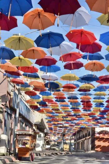 colourful umbrellas The Still Life Photographer - 2018 EyeEm Awards Abundance Choice Consumerism Day Hanging In A Row Large Group Of Objects Multi Colored No People Outdoors Sunlight Umbrella Variation #urbanana: The Urban Playground