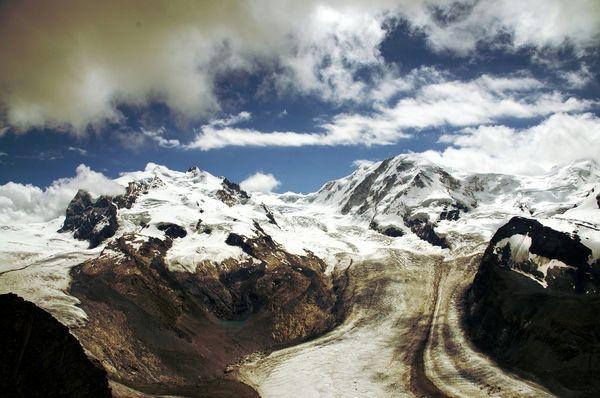 Monte Rosa Swiss Alps Alps Mountains 4000m Monte Rosa Dufourspitze Zermatt Gornergrat