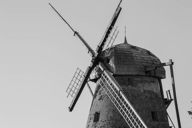 Peterlauki windmill Architecture Low Angle View Clear Sky Built Structure Wind Power Windmill Alternative Energy Renewable Energy Outdoors Sky Day Damaged No People Winter
