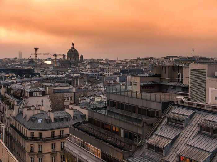 Architecture Building Exterior City Cityscape Sky Sunset No People Outdoors Париж Paris, France  The Changing City Outdoor Photography EyeEm Gallery Capture The Moment EyeEm Best Shots EyeEmBestPics I Love My City City Winter Day