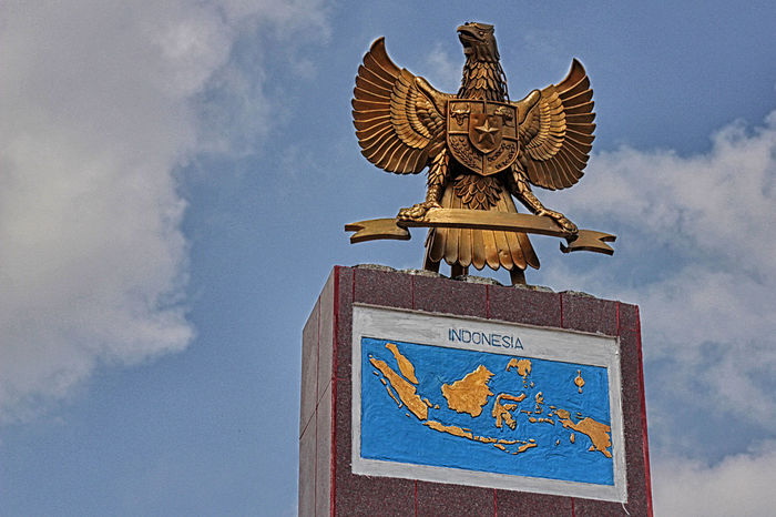 17 Aceh Agustus Art Bj Blue Cloud Cloud - Sky Cloudy Day Garuda Gold High Section INDONESIA Kemerdekaan RI Low Angle View Map Merdeka National Flag No People Nusantara Ornate Outdoors Sabang Sky