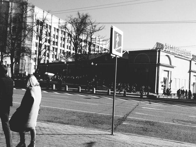 Enjoying The View IPhoneography Taking Photos Walking Around City Black & White Blackandwhite Photography