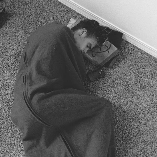 My other sleeping son Son Sleeping Asleep Sleeping Bag Sleep Sleeping On The Floor