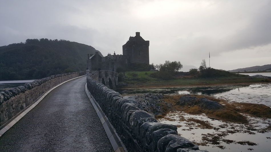 Bridge - Man Made Structure Castle Castle View  Castles Day Dramatic Dramatic Castle Dramatic Landscape Dramatic View Eilean Eilean Donan Eilean Donan Castle Eileandonancastle Long Bridge Long Way To Go... No People Outdoors Sky Tree Water