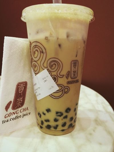 Gong Cha Pearl Milk Tea ? IPhone Photography VSCO Cam Pearl Milk Tea Milk Tea Gong Cha