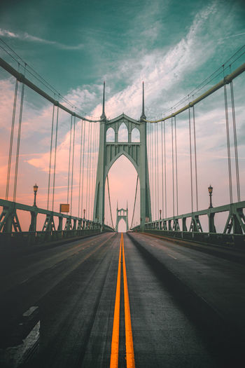 View of bridge against sky during sunset