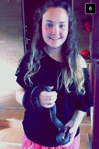 holding my snake 🐍 ( joe Blake 💜🙊 Reptile Snake