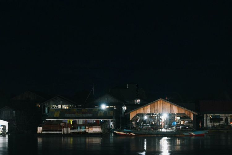 Night River CentralBorneo Palangkaraya 2018 Colors Budaya EyeEm Indonesia EyeEm INDONESIA River EyeEm Selects Night Illuminated Built Structure Business Finance And Industry Architecture Water Sky No People Outdoors City Building Exterior