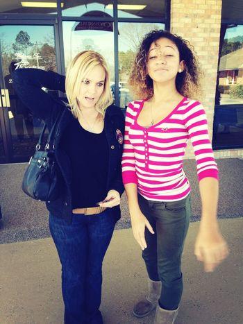 - me & my ma.. We look Racheeetttt . Lol