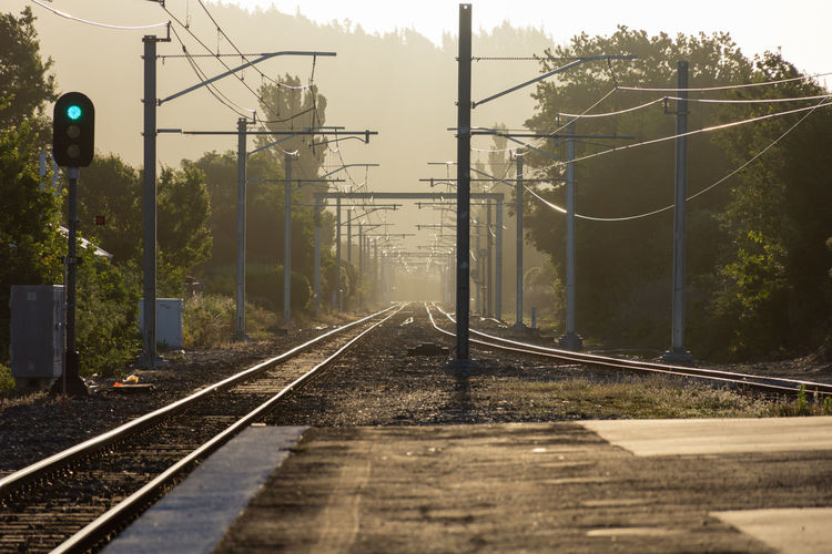 View of railroad tracks against sky