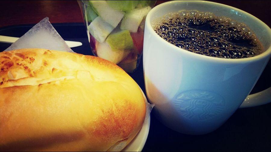 早起運動喝咖啡!Today's BrewedCoffee Caffè Verona. 有比較濃的焦味
