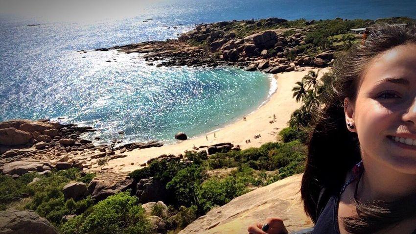Travel One Person Girl Woman Landscape Self Portrait Colorful Sea Coralsea Beach Bleu Passion Nature Wild Australia Queensland Bowen