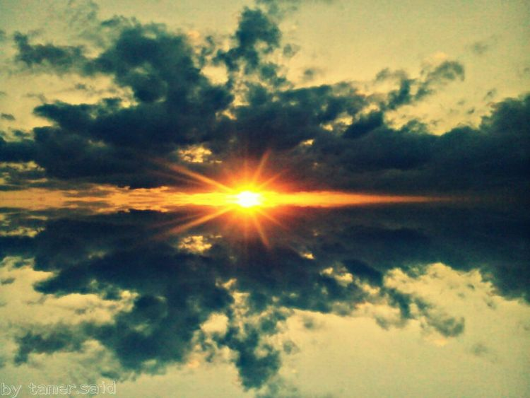 the sun Sunlight Sun Sunbeam Sky The Magic Mission Biutifull Photo Sunset Sun Sky Clouds