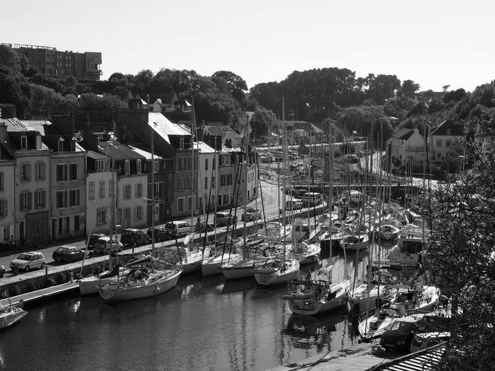 Inner harbor. Bnw_harbor Bnw_friday_eyeemchallenge Harbor Marina Belle-Île-en-Mer Building Exterior Nautical Vessel River City Recreational Boat Architecture Built Structure Mode Of Transportation Residential District