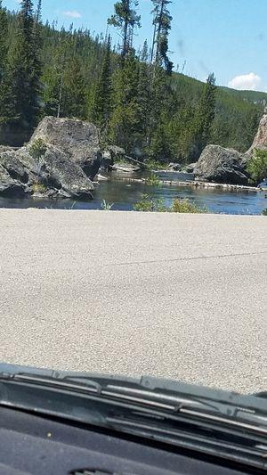 Rocks, river,