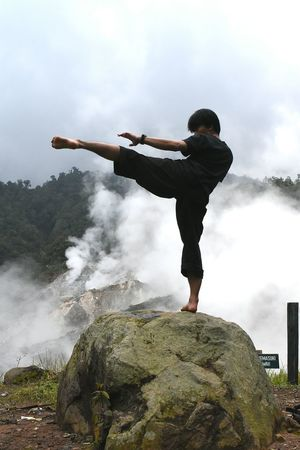 action Pencak Silat Silatindonesia INDONESIA Travel Silat Kpsnusantara Gunung Salak Gunungsalak Salak Mountain Bogor Go Higher Only Men One Man Only Motion Adult Adults Only Activity Arms Outstretched Men People Jumping Sport Athlete Strength Young Adult Outdoors One Young Man Only