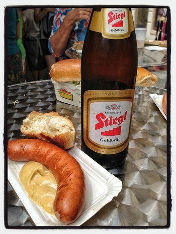 Bier Salzburg Sausages At Lunch