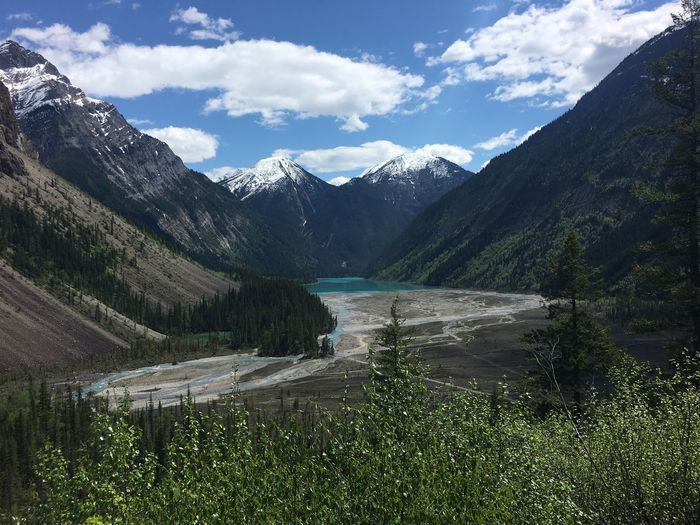 Kinney Lake Canada British Columbia Berg Lake Trail Mount Robson Provincial Park Kinney Lake Mountain Water Sky Scenics - Nature Beauty In Nature Cloud - Sky Mountain Range Tranquil Scene Nature Lake Tranquility No People Idyllic Environment Outdoors