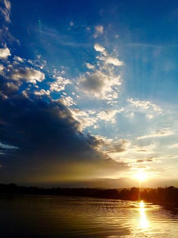Water Sun Tranquil Scene Scenics Tranquility Sunset Sunlight Sky Beauty In Nature Sunbeam Reflection Cloud Waterfront Nature Cloud - Sky Calm Lens Flare Outdoors