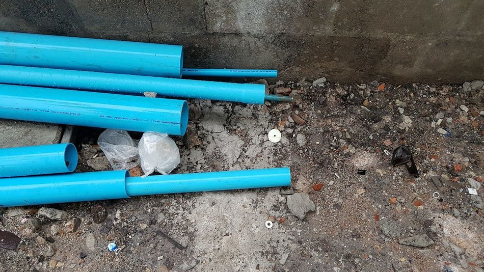Blue No People Outdoors Day Hardware Work Construction Site Built Structure Textured  Tube Watertubing