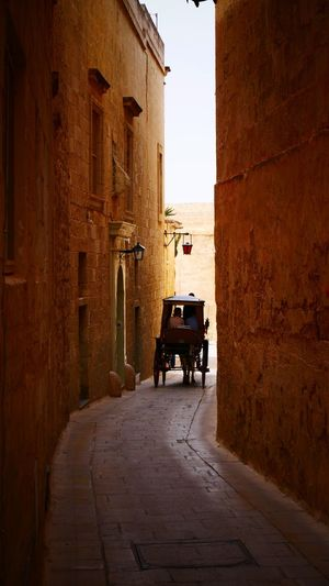 Like in old times ... Malta Architecture Malta Maltaphotography Ex-capital Road Festung Silentcity Architecture Building Exterior Built Structure City Transportation Building The Way Forward Street Mode Of Transportation Direction Land Vehicle