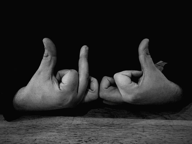 Human Body Part Close-up People Indoors  Human Hand One Person Adult Black&white Gang Sign Bloods  Gang_family Street Culture Representing